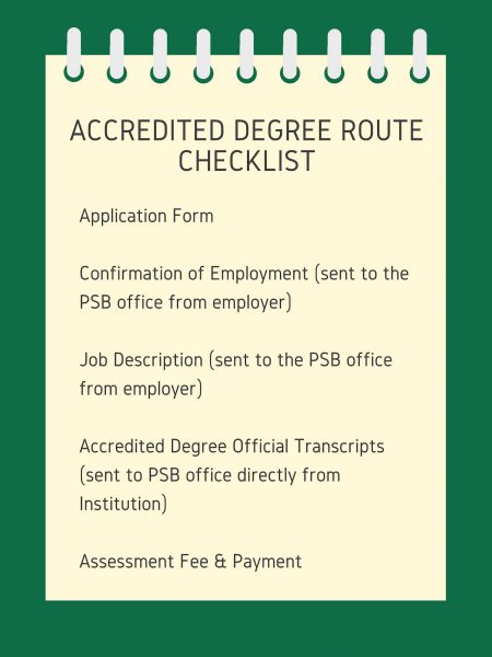 1-Accredited-Degree-Route-Checklist - Professional Standards