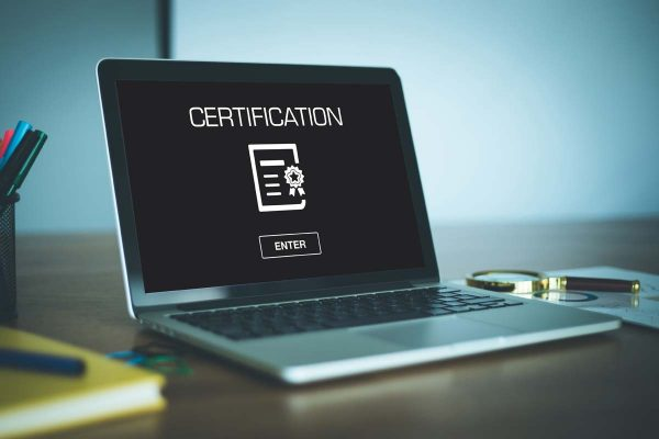 Certification on Laptop - Professional Planner